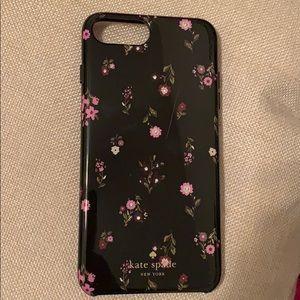 Kate Spade black flower IPhone 7 Plus case
